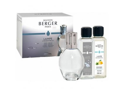 Maison Berger Paris dárková sada: katalytická lampa Essential Ovale + Verbena, 250 ml + So Neutral 250 ml