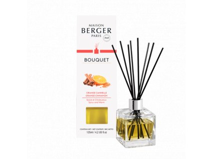 BERGER Orange de Cannelle / Pomeranč a skořice difuzér kostka 125ml