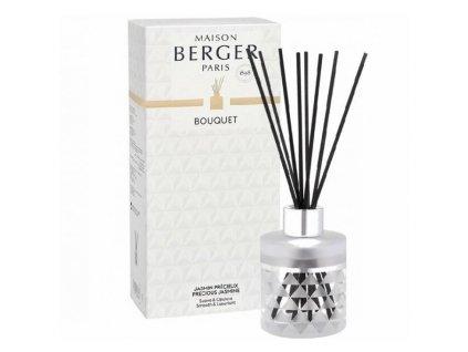 BERGER C12020 Clarity flakon s difuzérem bílý + Vzácný jasmín 115ml