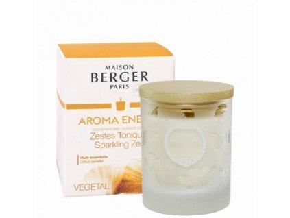 BERGER AROMA Zestes Toniques / Čerstvé tonikum svíčka 210g