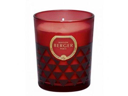 BERGER C12020 Clarity svíčka bordó Ambrový prach 180g