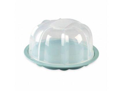 NW Podnos plastový s poklopem tyrkysový