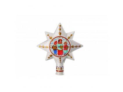 Rosenthal porcelánová špice na stromeček, Vánoční trh