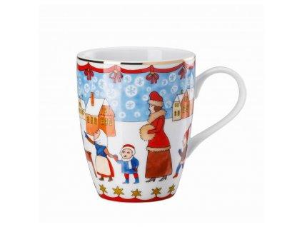 Rosenthal porcelánový vánoční hrnek, Vánoční trh, 0,3 l