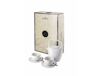 Rosenthal Junto Weiss porcelánová čajová souprava, 7 ks