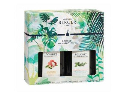 Maison Berger Paris náplně do difuzéru Rajské liči a Čerstvý eukalyptus, 200 ml + 2× vonné tyčinky