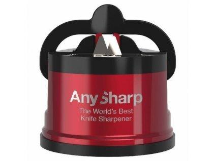 Brousek na nože AnySharp Pro, červený (metalická barva)