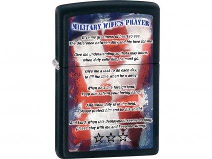 Zapalovač Zippo 26418 Military Wifes Prayer