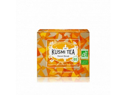 Sypaný bio organický bylinný čaj Kusmi Tea Sweet Break, 20 sáčků