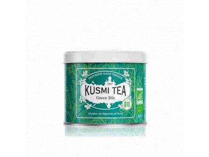 Sypaný bio organický bylinný čaj Kusmi Tea Green Mix, 100 g
