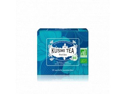 Sypaný bio organický bylinný čaj Kusmi Tea Feel Zen, 20 sáčků