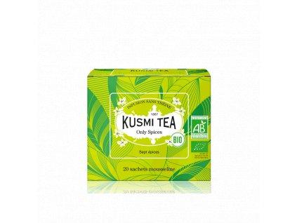 Sypaný bio organický bylinný čaj Kusmi Tea Only Spices, 20 sáčků