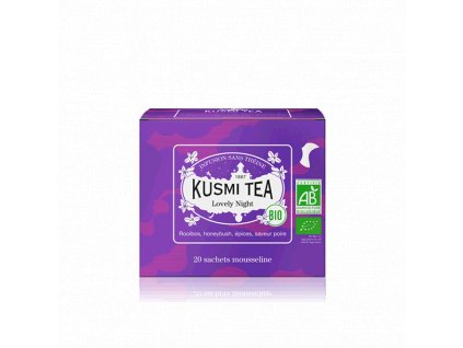 Sypaný bio organický bylinný čaj Kusmi Tea Lovely Night, 20 sáčků