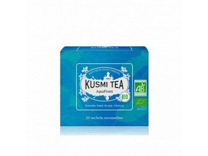 Sypaný bio organický bylinný čaj Kusmi Tea AquaFrutti, 20 sáčků