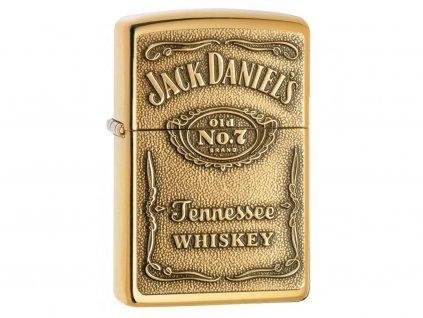 Zapalovač Zippo 24146 Jack Daniel's Label - Brass Emblem
