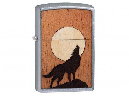 Zapalovač Zippo 25526 Woodchuck USA Howling Wolf
