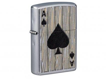 Zapalovač Zippo 25579 Ace of Spades Design