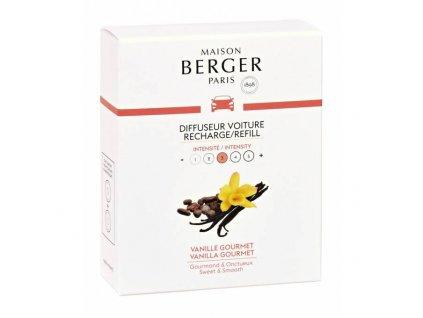 BERGER CAR 2 náhr. náplně Vanilla Gourmet / Gourmet Vanilla