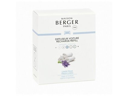 BERGER CAR 2 náhr. náplně Fresh Linen / Svěží vyp. prádlo
