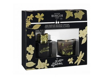 BERGER Lolita Lempicka mini duo difuzér 80ml + svíčka 80g černá