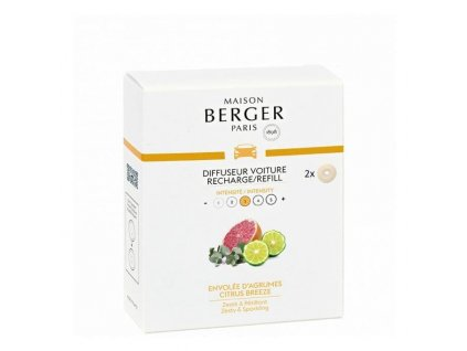 BERGER CAR 2 náhr. náplně Envolée d'Agrumes / Citrusový vánek