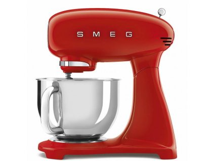 SMEG 50's Retro Style kuchyňský robot s nerezovou miskou 4,8 l červený