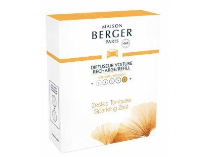 BERGER CAR Aroma 2 náhr. náplně Sparkling zest / Čerstvé tonikum