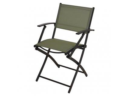 Zahradní židle skládací zelená