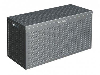 Zahradní úložný box s víkem plastový 120x45x60 cm KAISERHOFF KO-Y54400840