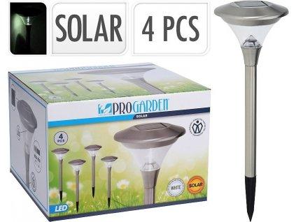Lampa solární zahradní 47cm sada 4 ks PROGARDEN KO-DT3000090