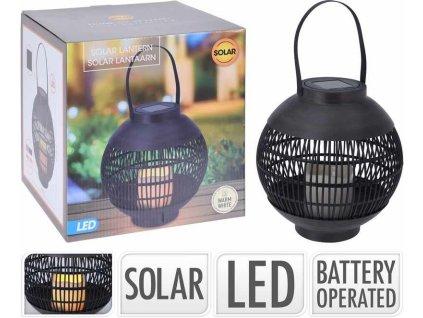 Lucerna solární s LED svíčkou 22 x 23 cm Progarden  KO-CX2100090