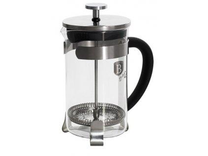 Konvička na čaj a kávu French Press 600 ml černá BERLINGERHAUS BH-1787
