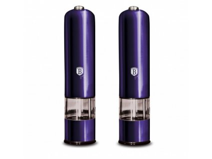 Mlýnek na pepř a sůl elektrický sada 2 ks Purple Metallic Line