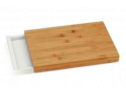 Prkénko krájecí se zásuvkou KLARA bambus 38 x 25,5 cm