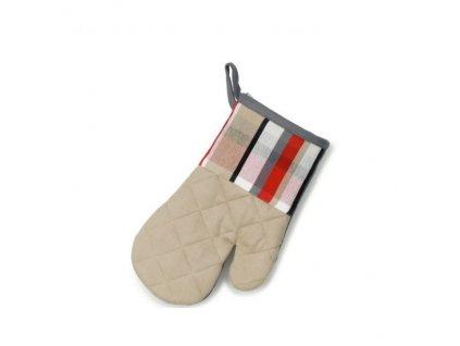 Chňapka rukavice TABEA 100% bavlna béžová kostka KELA KL-11739