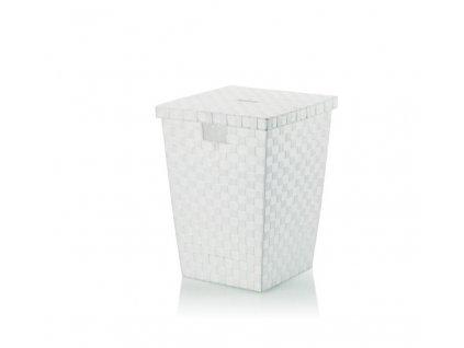 Koš na prádlo ALVARO bílý 40x40x52cm KELA KL-23071