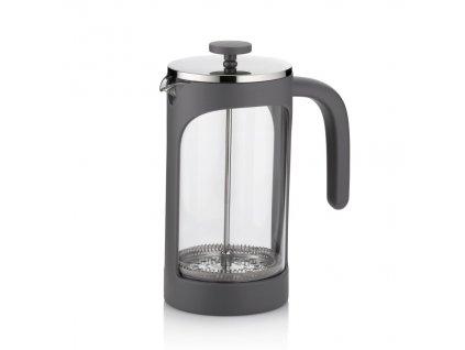Konvička na čaj a kávu VERONA French Press 1 l šedá
