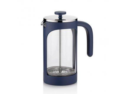 Konvička na čaj a kávu VERONA French Press 1 l modrá