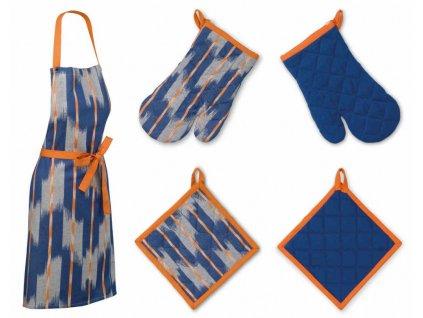 Sada kuchyňského textilu ETHNO modrá 3 ks, 100% bavlna KELA KL-12440442444