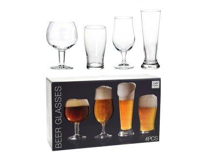 Sklenice na pivo sada 4 ks
