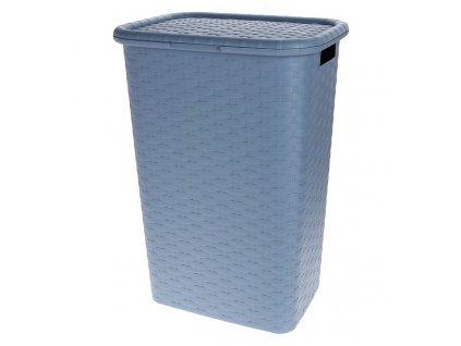 Koš na prádlo plast 60 l modrá