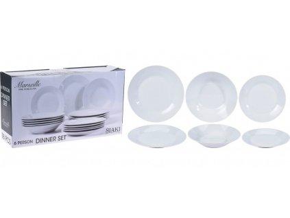 Jídelní sada talířů MARSEILLE porcelán 18 ks EXCELLENT KO-Q77000010