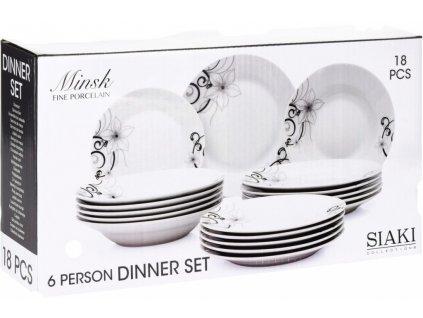 Jídelní sada talířů MINSK porcelán 18 ks EXCELLENT KO-Q77000020