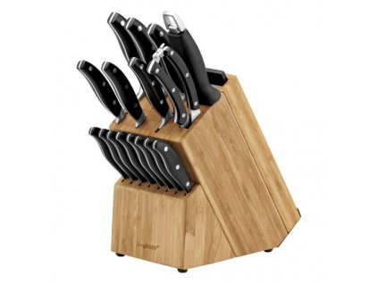 Sada nožů ve stojanu + prkénka TRIVIUM 20 ks