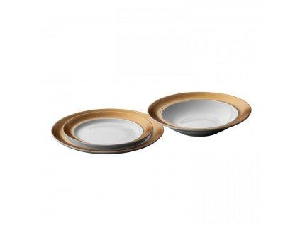 Jídelní sada talířů porcelán GEM 3 ks