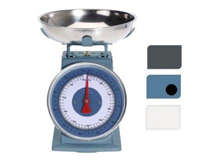 Váha kuchyňská 5 kg RETRO modrá
