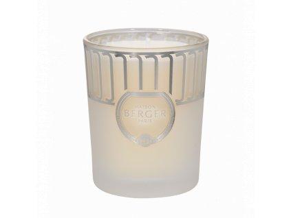 BERGER Land svíčka Čistý bílý čaj 180g bílá ojíněná (C12021)