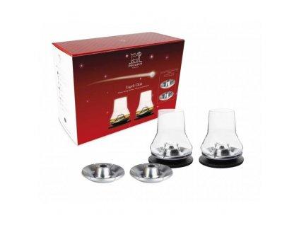 Peugeot dárková sada 2 sklenek na whisky 0,38 l, 4 chladicí podložky, Esprit Club