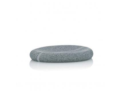 Miska na mýdlo TALUS poly dekor kámen šedá KELA KL-20255