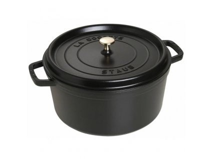 Litinový hrnec s poklicí Staub Cocotte, černá, 30 cm / 8,35 l